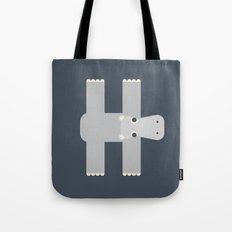 Letter H // Animal Alphabet // Hippo Tote Bag