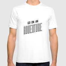 Adventure White Mens Fitted Tee SMALL