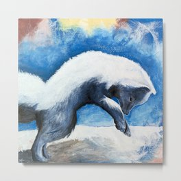 Animal - Antoine the Artic Fox - by LiliFlore Metal Print