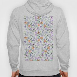 Simple Flowers on White Background Hoody
