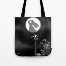 Rabbit on the moon Tote Bag