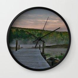 Northwoods Marina  Wall Clock