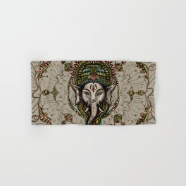 Lord Ganesha - Canvas Lord Ganesha - Canvas Hand & Bath Towel