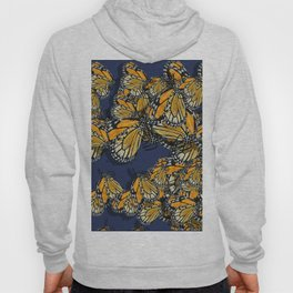 Butterfly Frenzy Spring Navy Hoody