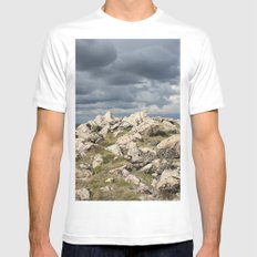 The Top MEDIUM White Mens Fitted Tee