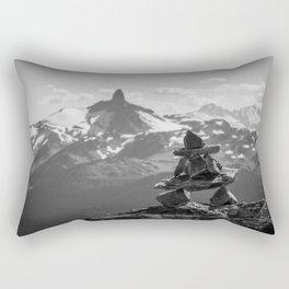 Black Tusk and the Inukshuk Rectangular Pillow