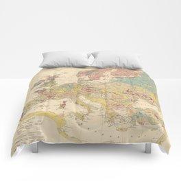 Vintage Geological Map of Europe (1856) Comforters