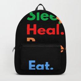 Eat. Sleep. Heal. Repeat. Backpack