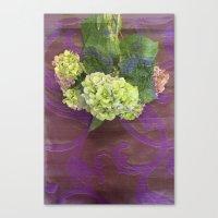 hydrangea Canvas Prints featuring hydrangea by Federico Faggion