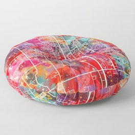 Southaven map Mississippi MS 2 Floor Pillow