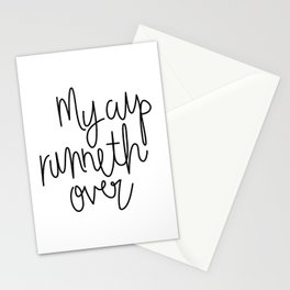 My Cup Runneth Over Stationery Cards