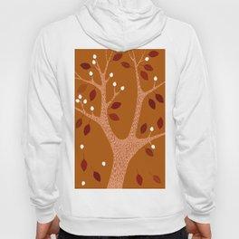 Autumn tree on ocher background Hoody