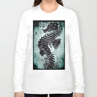 sea horse Long Sleeve T-shirts featuring Sea Horse by Bella Blue Photography