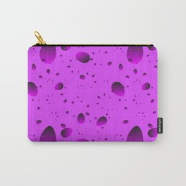 Large purple drops and petals on a light background in nacre. Carry-All Pouch
