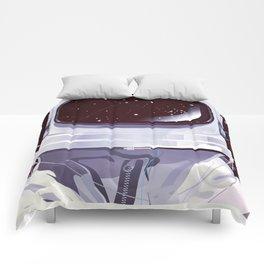 Vintage astronaut training poster Comforters