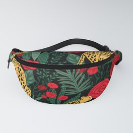 Leopards & Roses Pattern Fanny Pack