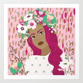 Floral & Feminine - Empowered Art Print