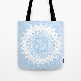 Baby Blue Boho Mandala Tote Bag