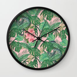 Serpents and Flowers Wall Clock