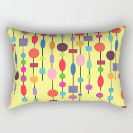 Multicolored string of pearls Rectangular Pillow