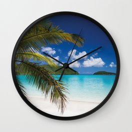 Tropical Shore Wall Clock