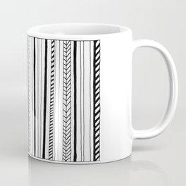 Abstract Black Lines Pattern Coffee Mug