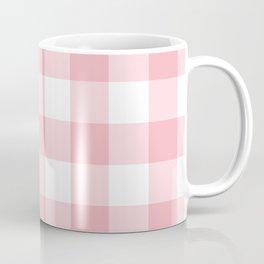 Coral Gingham Pattern Coffee Mug