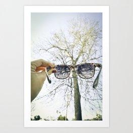 Sunny tree Art Print