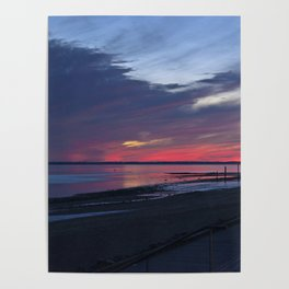 Magic Summer Sunset on the West Coast of DENMARK Poster