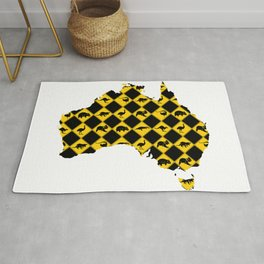 Australian Animals Road Signs Map Rug