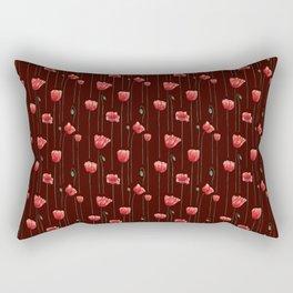Poppies on Garnet Rectangular Pillow