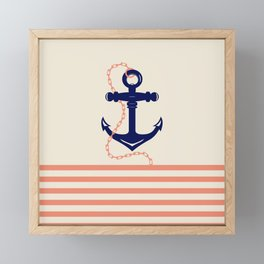 AFE Navy Anchor and Chain Framed Mini Art Print