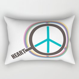Finding The Peace From Our Heart Rectangular Pillow