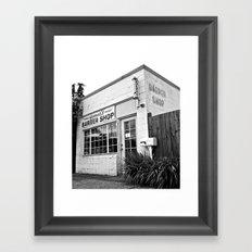 Norma's Barber Shop Framed Art Print