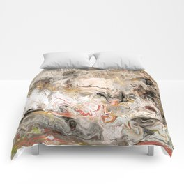 Earth Strata Marble Comforters