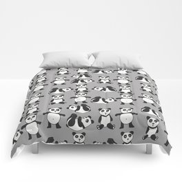 My girlfriend is a panda Comforters