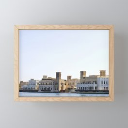 Waterfront historic district in Deira, Dubai Framed Mini Art Print