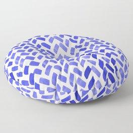Cute watercolor knitting pattern - blue Floor Pillow