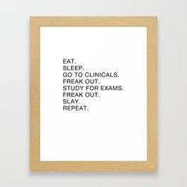 Clinical, Nursing Student, Med Student Framed Art Print