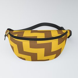Amber Orange and Chocolate Brown Steps LTR Fanny Pack