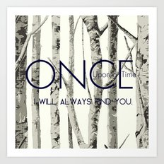 Once Upon a Time (OUAT)  Art Print