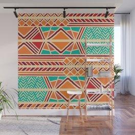 Tribal ethnic geometric pattern 027 Wall Mural