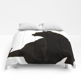 Halloween Black Cat Silhouette  Comforters