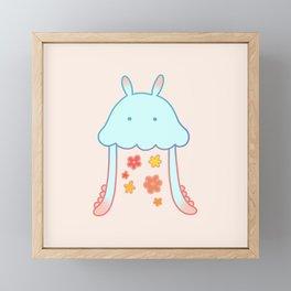 Flower jellyfish Framed Mini Art Print