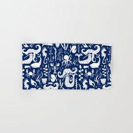 Under The Sea Navy Blue Hand & Bath Towel