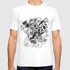 Monster RoadTrip! White MEDIUM Mens Fitted Tee