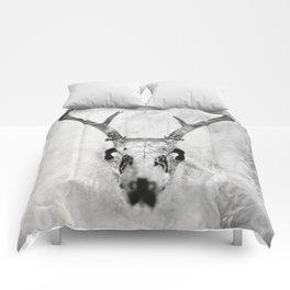Whitetail Deer Skull (Buck) - 8x10 Tintype Photo Comforters