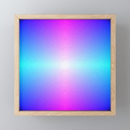 Purple, Pink, Blue and White Ombre flame pattern Framed Mini Art Print