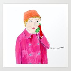Doris Day on the phone Art Print