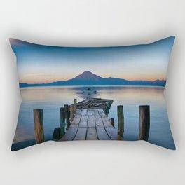 The Dock Sunset (Color) Rectangular Pillow